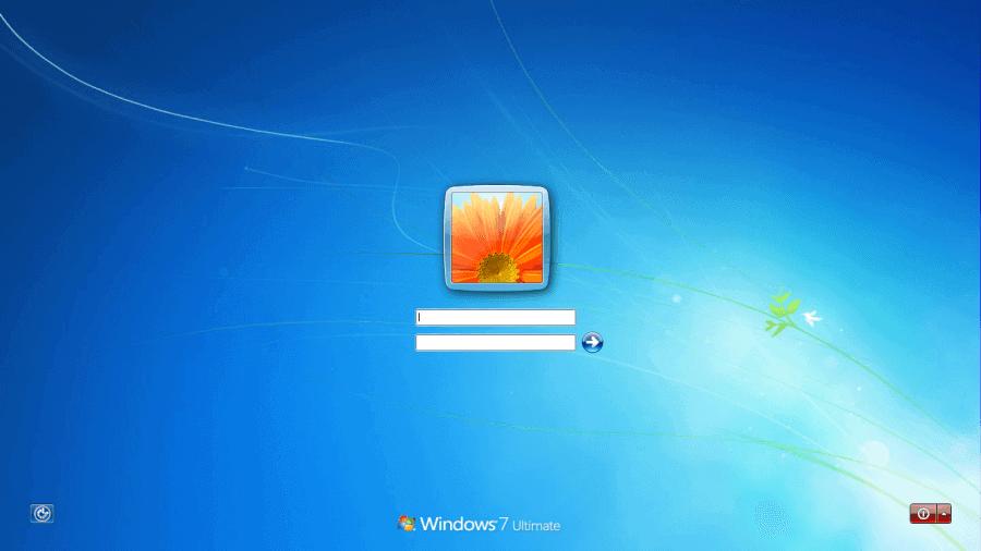 login windows 7