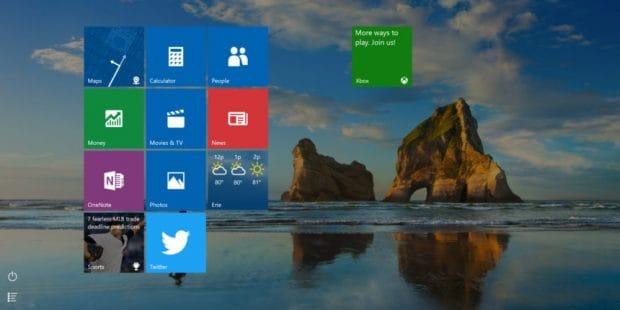 Cum folosim Start menu in full screen